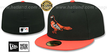 Orioles 1999-2008 ROAD COOPERSTOWN Fitted Hat by New Era