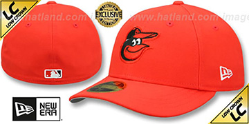 Orioles 2012 LOW-CROWN CURRENT Orange Fitted Hat by New Era
