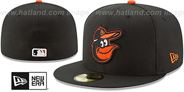 Orioles '2017 DIAMOND ERA' Black Fitted Hat by New Era