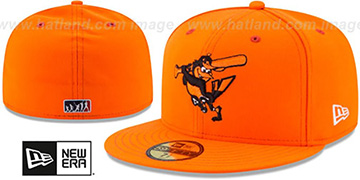 Orioles 2017 MLB LITTLE-LEAGUE Orange Fitted Hat by New Era