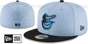 Orioles '2018 FATHERS DAY' Sky-Black Fitted Hat by New Era