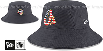 Orioles 2018 JULY 4TH STARS N STRIPES BUCKET Navy Hat by New Era