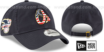 Orioles '2018 JULY 4TH STARS N STRIPES STRAPBACK' Navy Hat by New Era