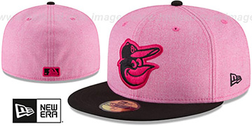 Orioles 2018 MOTHERS DAY Pink-Black Fitted Hat by New Era