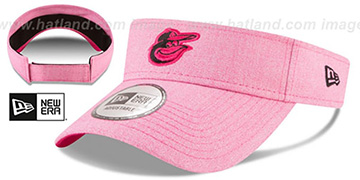 Orioles 2018 MOTHERS DAY VISOR Heather Pink by New Era