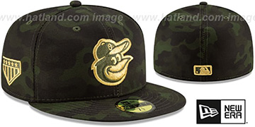 Orioles 2019 ARMED FORCES 'STARS N STRIPES' Hat by New Era