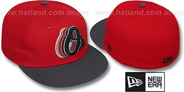 Orioles 2T ALT SCRIBBLE FADE Red-Grey Fitted Hat by New Era
