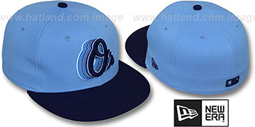 Orioles 2T ALT SCRIBBLE FADE Sky-Navy Fitted Hat by New Era