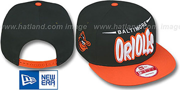 Orioles 2T COOP DOPETASTIC SNAPBACK Black-Orange Hat by New Era