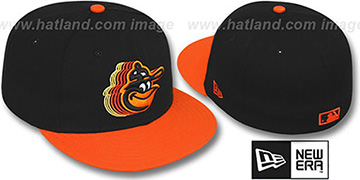 Orioles '2T COOP SCRIBBLE FADE' Black-Orange Fitted Hat by New Era