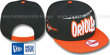 Orioles '2T DOPETASTIC SNAPBACK' Black-Orange Hat by New Era