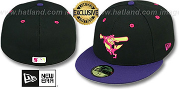 Orioles '2T-FASHION ALTERNATE' Black-Purple-Pink Fitted Hat by New Era