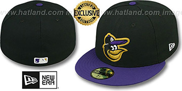 Orioles '2T-FASHION' Black-Purple Fitted Hat by New Era