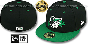Orioles '2T-FASHION CLOVER' Black-Green Fitted Hat by New Era