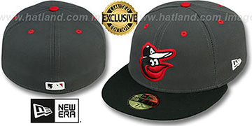 Orioles 2T-FASHION Grey-Black Fitted Hat by New Era