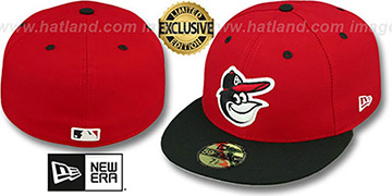 Orioles 2T-FASHION Red-Black Fitted Hat by New Era