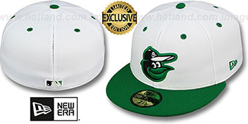 Orioles 2T-FASHION White-Green Fitted Hat by New Era