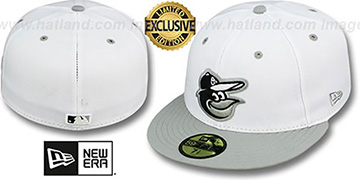 Orioles 2T-FASHION White-Grey Fitted Hat by New Era
