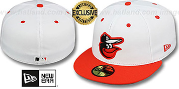 Orioles '2T-FASHION' White-Orange Fitted Hat by New Era