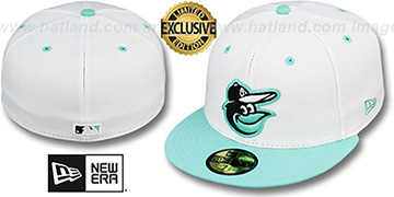 Orioles 2T-FASHION White-Sea Foam Fitted Hat by New Era
