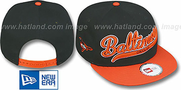 Orioles 2T SCRIPTER SNAPBACK Black-Orange Hat by New Era
