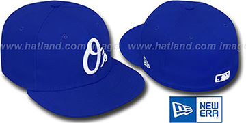 Orioles ALT 'SOLID FASHION' Royal-White Fitted Hat by New Era