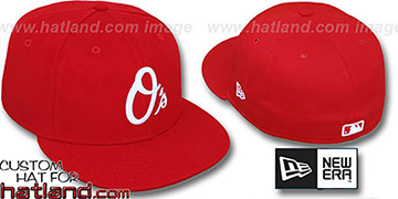 Orioles ALTERNATE Red-White '59FIFTY' Fitted Hat by New Era