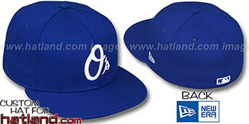 Orioles 'ALT TEAM-BASIC' Royal-White Fitted Hat by New Era