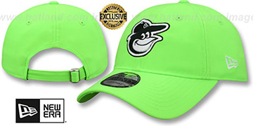 Orioles BEACHIN STRAPBACK Neon Green Hat by New Era