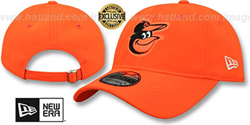 Orioles BEACHIN STRAPBACK Neon Orange Hat by New Era
