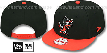 Orioles 'BITD SNAPBACK' Black-Orange Hat by New Era