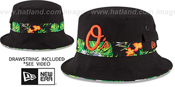 Orioles 'BLOOM SUB-BANDED' Black Bucket Hat by New Era