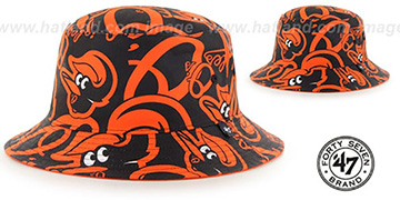 Orioles BRAVADO BUCKET Hat by Twins 47 Brand