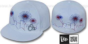 Orioles CITY-SKYLINE FIREWORKS White Fitted Hat by New Era