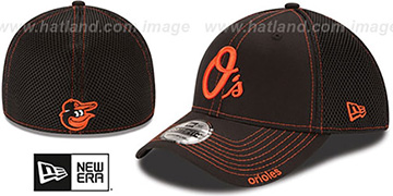 Orioles 'CONTRAST NEO MESH' Black Flex Hat by New Era