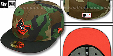 Orioles COOP '2T CAMO' Army-Black Fitted Hat by New Era