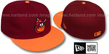 Orioles COOP 2T-FASHION Burgundy-Orange Fitted Hat by New Era