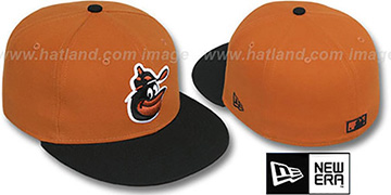 Orioles COOP 2T-FASHION Burnt Orange-Black Fitted Hat by New Era