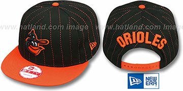 Orioles COOP 'PINSNAP SNAPBACK' Black-Orange Hat by New Era