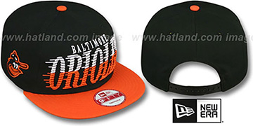 Orioles COOP SAILTIP SNAPBACK Black-Orange Hat by New Era
