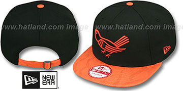 Orioles COOP 'SNAKE-THRU STRAPBACK' Black-Orange Adjustable Hat by New Era