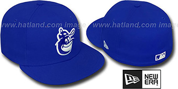 Orioles COOP SOLID FASHION Royal-White Fitted Hat by New Era