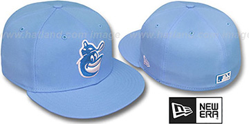Orioles COOP 'SOLID FASHION' Sky-White Fitted Hat by New Era