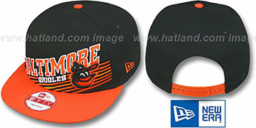 Orioles COOP STILL ANGLIN SNAPBACK Black-Orange Hat by New Era
