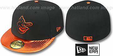 Orioles COOP 'VIZATION' Black-Orange Fitted Hat by New Era