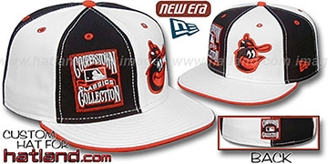 Orioles COOPERSTOWN DOUBLE WHAMMY Black-White Fitted Hat