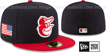 Orioles COUNTRY COLORS Navy-Red Fitted Hat by New Era