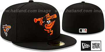 Orioles DASHMARK BP Black Fitted Hat by New Era