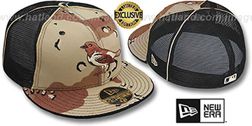 Orioles DESERT STORM MESH-BACK Fitted Hat by New Era