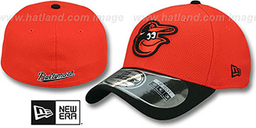 Orioles 'DIAMOND ERA' 39THIRTY Flex Orange-Black Hat by New Era